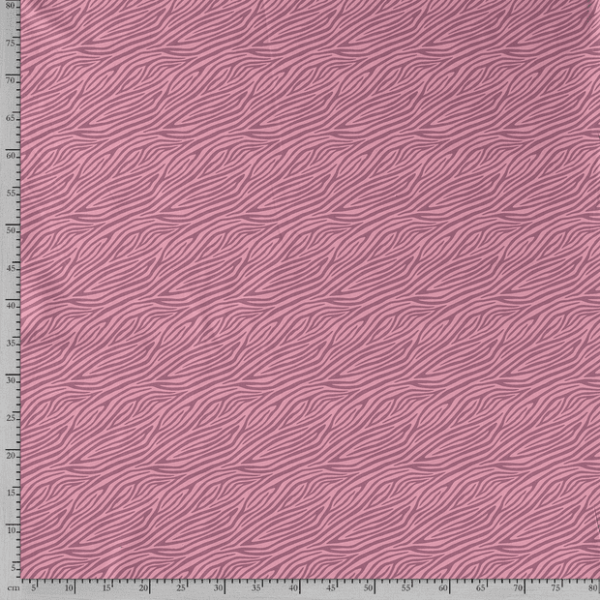 Tela de punto de camiseta de algodón orgánico tipo Jersey estampado animal print zebra rosa