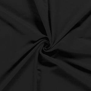 Tela de sudadera de invierno fina color negro