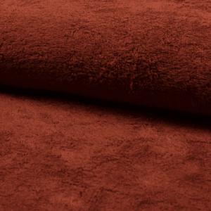Tela de rizo de bambú o toalla color teja