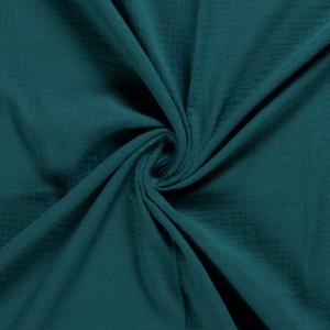 Tela de muselina de algodón petrol