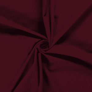 Punto de algodón o tela de camiseta tipo Jersey color burdeos