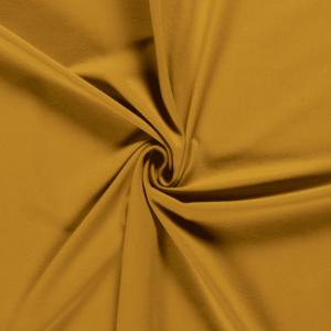 Punto de algodón o tela de camiseta tipo Jersey color ocre oscuro