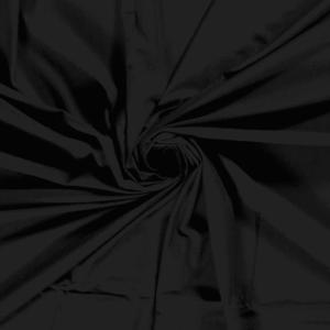 Tela de bambú con algodón tipo punto de camiseta lisa color negro