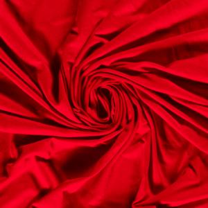 Tela de bambú con algodón tipo punto de camiseta lisa color rojo