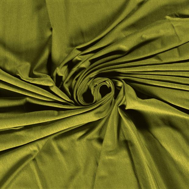 Tela de bambú con algodón tipo punto de camiseta lisa color verde