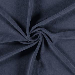 Toalla rizo de punto de algodón color índigo