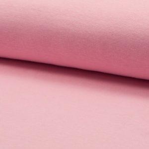 Tela de puño o canalé color rosa algodón