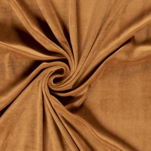 Velur o tela de terciopelo liso color camel