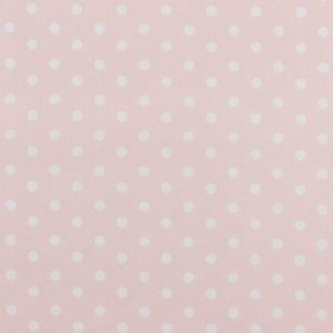 Algodón popelín de algodón para creatividades de patchwork con topos blancos fondo rosa