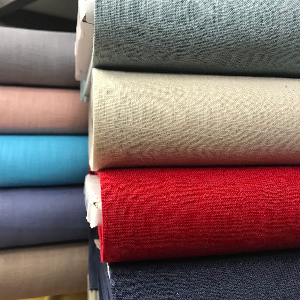 Tela de lino 100x100 tejido fresco, suave y con caída