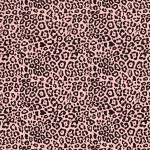 Punto de camiseta de algodón estamapda animal print algodón y poliéster fondo rosa