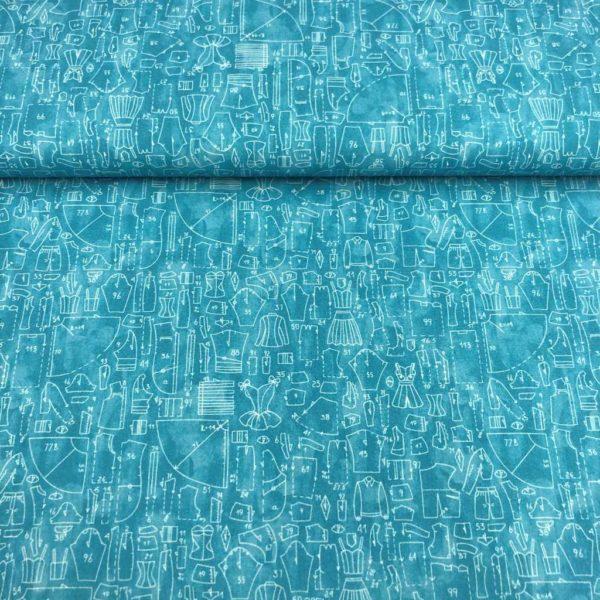 Algodón popelín de algodón ORGÁNICO para creatividades de patchwork con estampado de máquinas de patrones