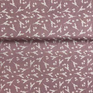 Algodón popelín para creatividades de patchwork con estampado de espigas fondo lila