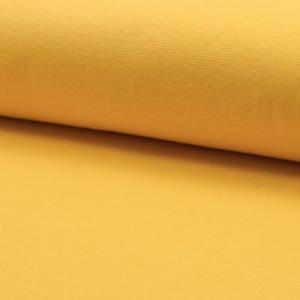 Tela de puño o canalé color amarillo