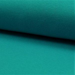 Tela de puño o canalé color turquesa